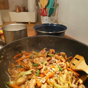 Wok sa povrćem i piletinom i vegeta natur
