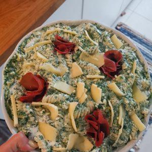 zapečeni makaroni sa sirom i špinatom